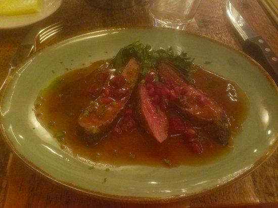 Vienna, VA: Seared Duck Breast (without the grits)