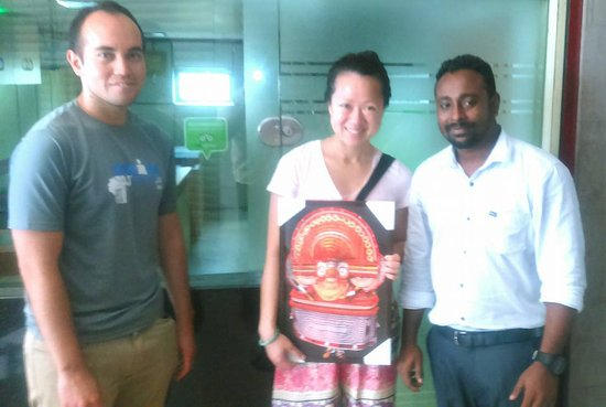 Keralayathra Tours And Travels Liang Lisa At Office With Vacation Gift