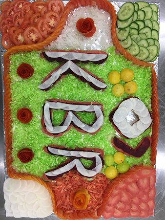 Salad Decoration By Chef Picture Of Krishna Beach Resorts Diu