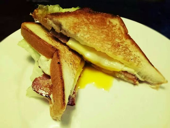 Chengde, China: Toasted bacon and egg