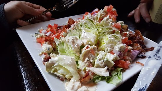 Ridgefield, CT: wedge salad (after we had our way with it)