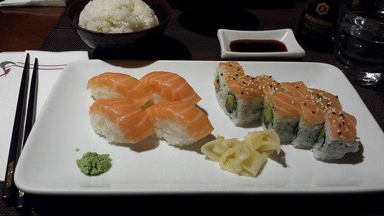 Kintaro : Sushi saumon et maki saumon/avocat