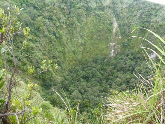 Mount Empung: The deep crater of Empung volcano.