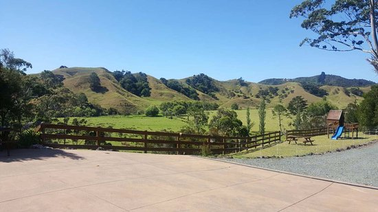 Whangaroa, New Zealand: View from parking area near suite C
