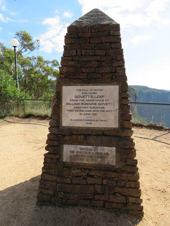 Blackheath, Australien: Govett Memorial Plinth