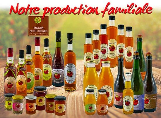 Douvres-la-Delivrande, France : Notre Production familiale