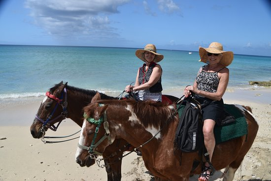 Paul and Jill's Equestrian Stables : A great ride on the beach. So much fun. Hats provided by Jill