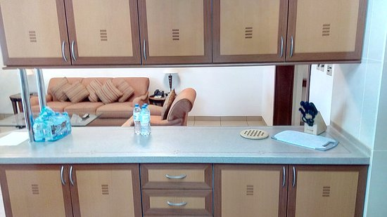 Kitchen Area partition with Living room - Picture of Grand Hyatt ...