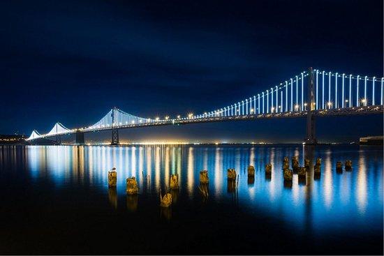Concord, CA: Bay Bridge at Night