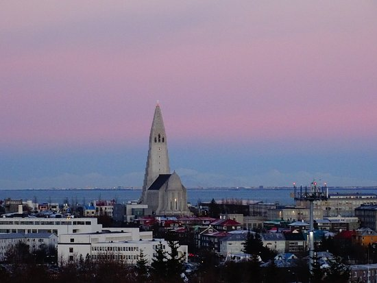 The Pearl (Perlan): Great view on cathedral in the city center