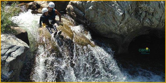 Thoiras, France : Canyoning et randonnée aquatique en Cévennes. Ici le canyon du Soucy à St Jean du Gard