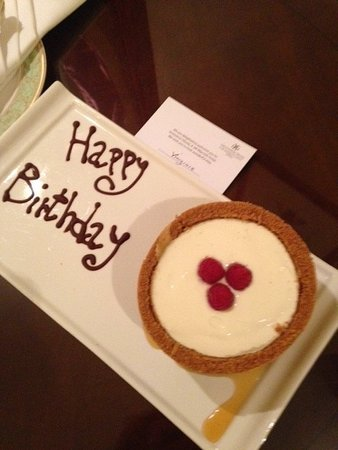 JW Marriott Grosvenor House London Surprise Birthday Gift From The Hotel Staff