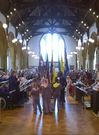 Bedford, UK: A Parade Service with our Scouting and Guiding groups