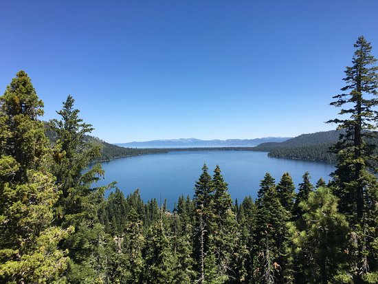 Fallen Leaf, CA: A view of Lake Tahoe as you ascend up the mountain