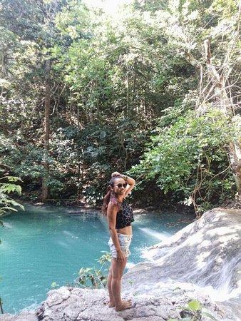 Moyo Island, Indonesia: Mata Jitu Waterfal