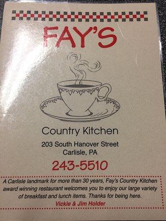 Fay S Country Kitchen Carlisle