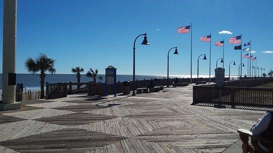 Myrtle Beach Boardwalk Promenade Beautiful Weekday Afternoon In January
