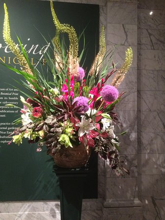Cleveland Museum of Art: Weekly Women's Council Flower Arrangement at the Entrance of Museum