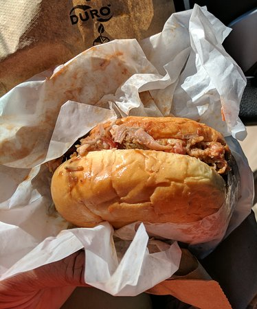 Hudson Hickory House: Barbeque pork sandwich