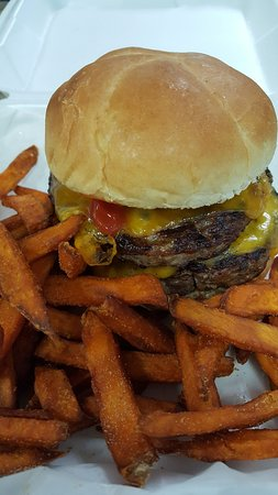 Clintonville, WI: Bear Burger with Sweet Potato Fries