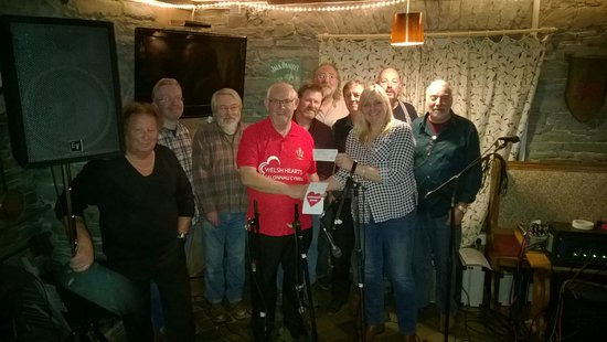 Lampeter, UK: Presenting cheque for £1205 to the Welsh hearts foundation - Money raised during our music festi