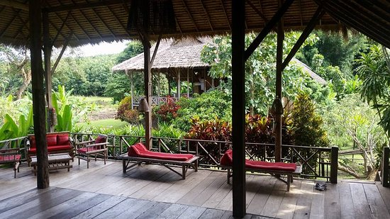 Lisu Lodge: The deck of our lodge