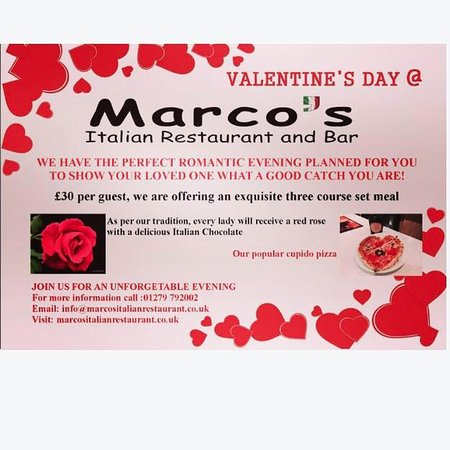 Our Valentine S Day Menu Picture Of Marco S Italian Restaurant