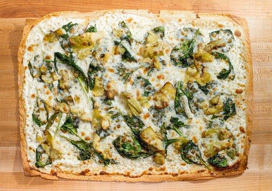 Pizza Rollio: Spinach Artichoke Pizza