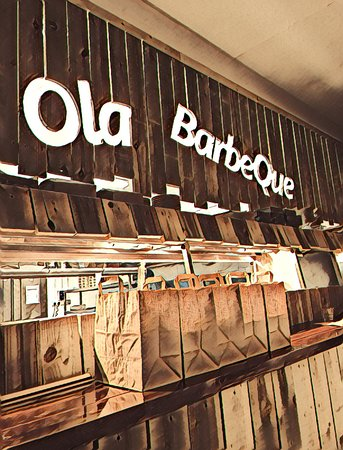 Nunney, UK: Ola BarbeQue Interior