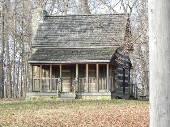 Period style cabin at Corydon Battlefield site.