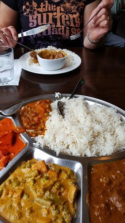 The Indian Cafe: Kombiplatte - superlecker und empfehlenswert