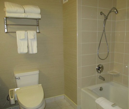 Miyako Hotel Los Angeles: Nice size and amenities in bathroom