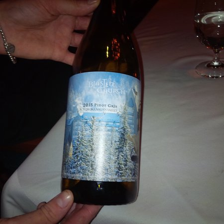 The Chalet at The Fairmont Chateau Whistler Golf Clubhouse: Delicious and fun label wine