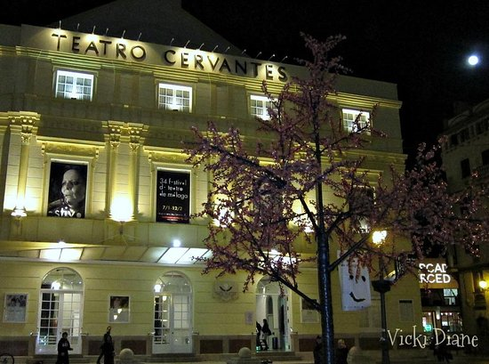 Restaurante Vino Mio: This isn't the restaurant, but the view from my seat outside the Restaurant of Cervantes Theater