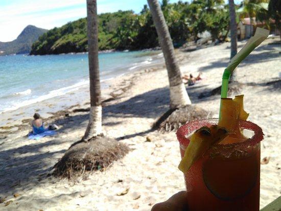 Iles des Saintes, Guadeloupe: Punch de la Belle Etoile sur la plage de la Grande Ance, Terre de Bas, Les Saintes