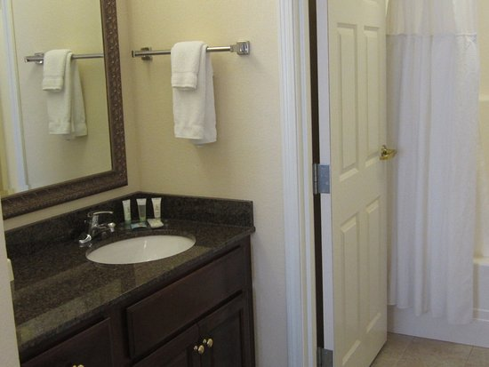 Staybridge Suites Kalamazoo : Bathroom Amenities include shampoo, conditioner, lotion and soaps