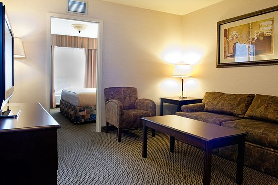Holiday Inn Hotel & Suites West Edmonton : King Bed Jacuzzi Suite,Pull out sofa.Incl. minifridge & microwave
