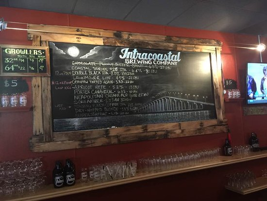 Intracoastal Brewing Company: Board with beer selection