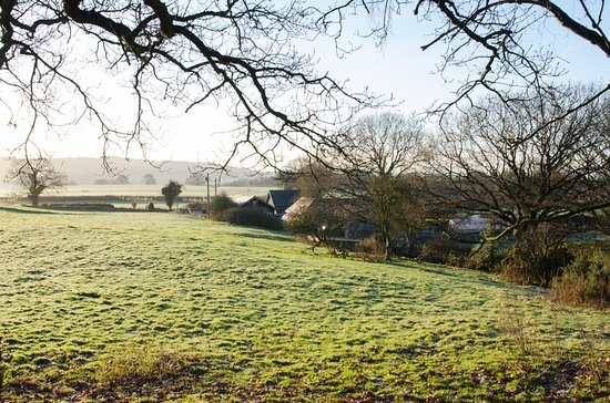 Stonehouse Farm: View from the fields behind the house