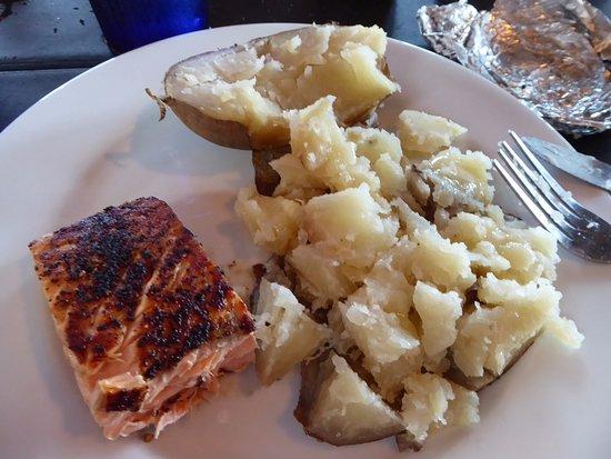 Fulton, TX: Half Salmon Portion with Baked Potatoe