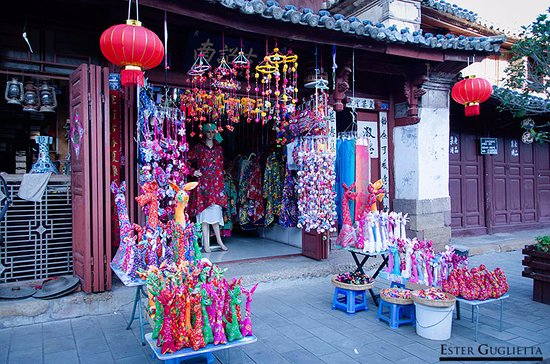 Weishan County, China: Tienda en Weishan Old Town