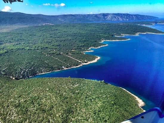 Стари Град, Хорватия: View from the seaplane flying over the Stari Grad area of Hvar