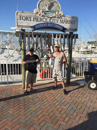 Fort Pierce, FL: Had a great time. Worth every penny even cut up the fish when we docked