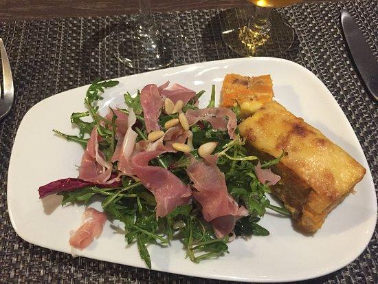 Roquefort les Pins, França: Gratin de potiron au jambon italien