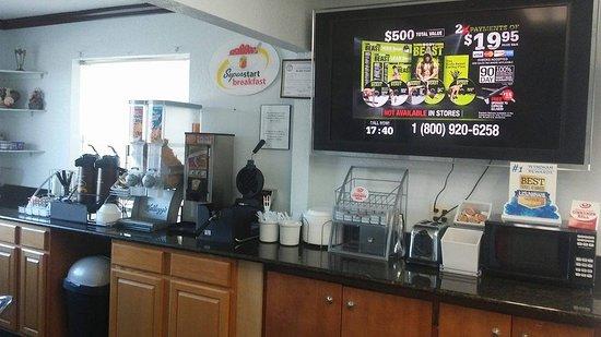 Dumas, تكساس: Breakfast area