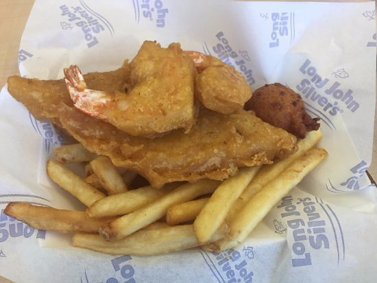 5 box meal fish shrimp with fries picture of long john for Long john silver s fish and chips