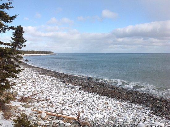 Cape North, Canada: Atlantic shore a minute's walk away