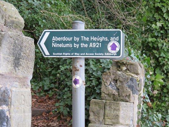 Aberdour, UK: detour
