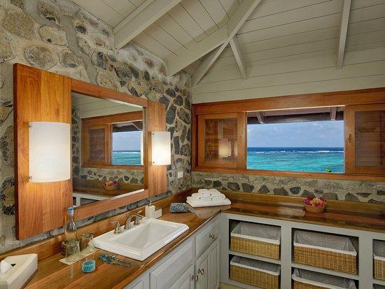 Petit St.Vincent: Cottage Bathroom View