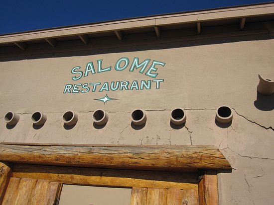 Salome Restaurant The Sign Above Door